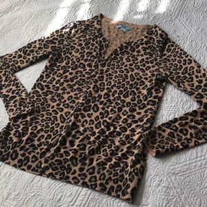 Old Mavy Cheetah Cardigan